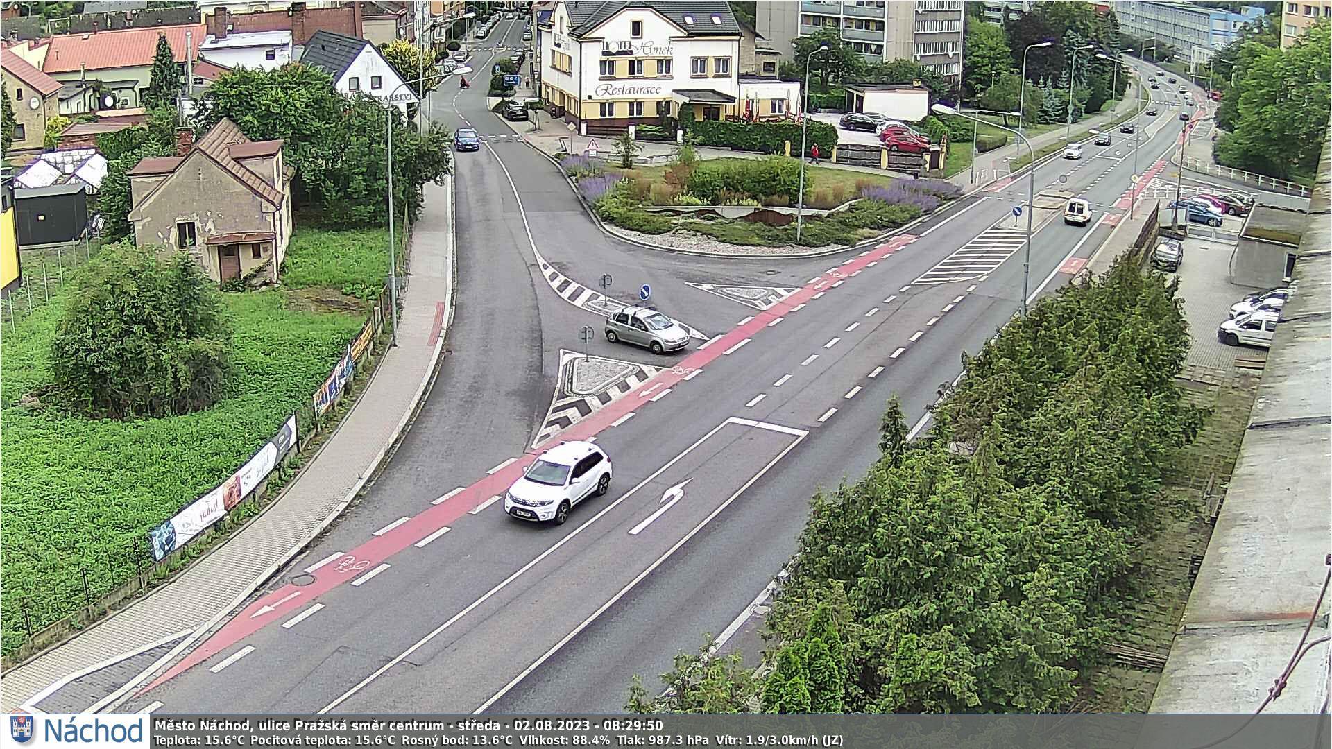 Webkamerka - Náchod, Bartoň směrem do centra
