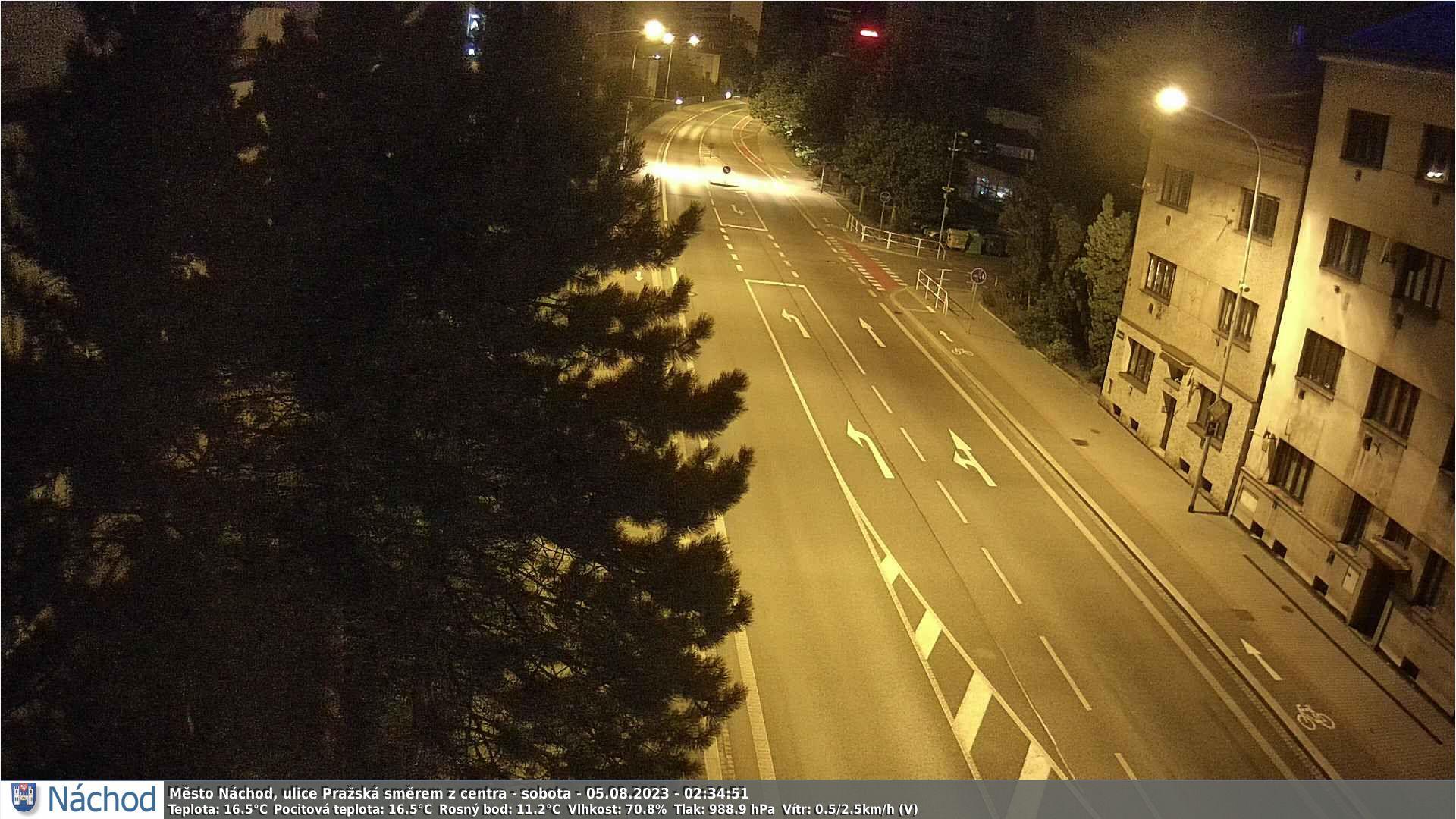 Webkamerka - Náchod, Pražská ulice směrem do centra
